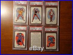 1966 Batman Whitman Playing Cards Set All PSA Graded with PSA 10 Gem Mint Joker