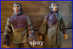 1974 PLANET OF THE APES Orig. MEGO 8 INCH ACTION FIGURE LOT Of 6 All Complete