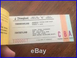 1978 Disneyland Ticket Book Mint and complete with admission and all tickets