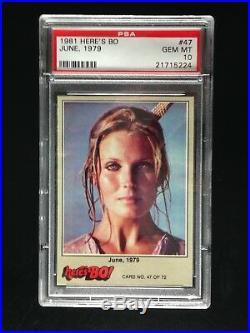 1981 Fleer HERE'S BO Derek Trading Card #1 REGISTRY SET ALL PSA 10 GEM MINT