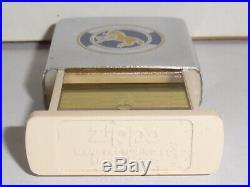1982 Colt Firearms Slim Zippo Lighter, Pill Box, And Key Holder Set. All Mint