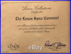 1993 Lenox Spice Carousel Rack withall 24 jars Never used, mint in original boxes