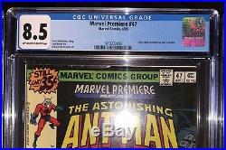 1st Scott Lang Cgc Lotavengers 181, Marvel Premiere 47 & 48all Cgc 8.5