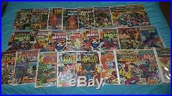 250 silver & bronze age comic lot-all Marvel-keys-Spider-man Fantastic Four 1st