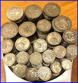 3kg / 3000g COLLECTION JOB LOT PRE 1947 ALL HALF SILVER 50% COINS SCRAP OR NOT
