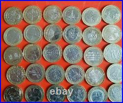 42x ALL DIFFERENT Job Lot of RARE £2 Coins Collectable Two Pound Coins joblot