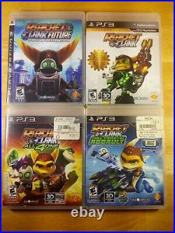 4 Lot Ratchet & Clank Collection Tools of Destruction Full Frontal All 4 One PS3