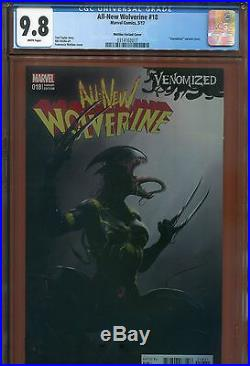 5- 2017 Marvel All New Wolverine Venomized Variant #18 Cgc 9.8 White Pages Lot