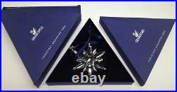 6 Swarovski Christmas Ornament Crystal Snowflake Lot in Boxes All Dif. Years