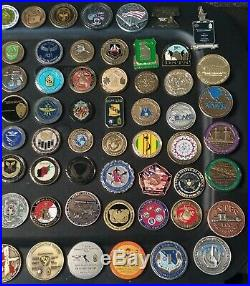 77 Coins Challenge Coin lot set Collection Military See ALL Pics ALL SERVICES
