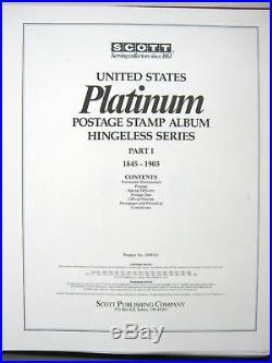 ALL MINT 1847- US Collection in Hingeless Vol 1 Scott Platinum Album withSlipcase