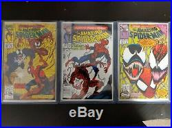 AMAZING SPIDER-MAN 361 NEWSSTAND 362 & 363 LOT 1st CARNAGE ALL BOOKS NM TO MN+