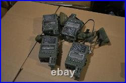 AN/PRC-112B1 Radio withGPS lot of 4 all have cracks in the Glass 3 work
