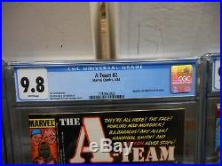 A-Team 1 2 3 SET ALL cgc 9.8 Marvel 1984 NBC TV show MINT WHITE pgs Mr T Face