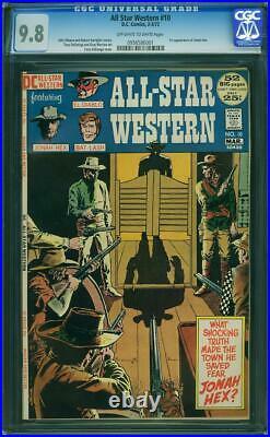 All Star Western #10 CGC 9.8 DC 1972 1st Jonah Hex! RARE NM/Mint Copy! L6 951 cm