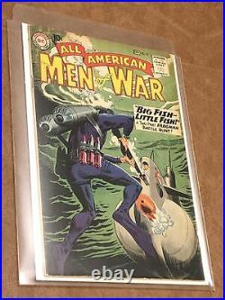 All american men of war lot WW2 golden age war comics rare 51 60 77 81