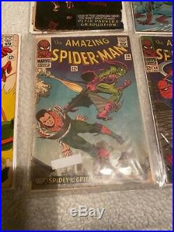 Amazing spiderman silver age lot You Get All The Ones In The Pictures! Rare