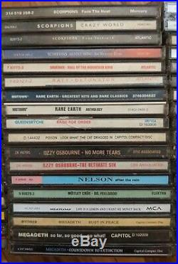 BULK LOT of 50 Classic Rock Goth Metal CD Albums Collection Some Rare! All in EUC