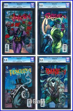 Batman Complete 3-d Lenticular Set All Cgc 9.8 Mint/near Mint All Four Books