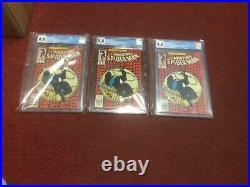 CGC Amazing Spider-man 300 lot of three 6.0,8.0,9.4 ALL WHITE PAGES LOOK