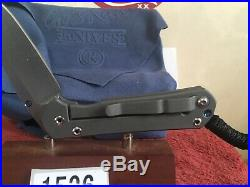 Chris Reeve Knife Small Sebenza 21 All Papers And Accessories 2010 Mint In Box