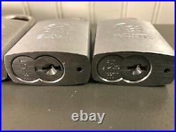 Commercial Grade Best Padlock Lot of 5 with Key 1 Key Fits all Locks
