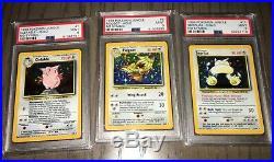 Complete Mint No Symbol error jungle Pokemon holo set PSA 9 all 16 Holos