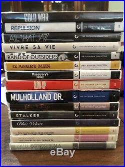 Criterion Collection DVD Lot (COLD WAR REPULSION ALL THAT JAZZ VIVRE SA VIE ETC)