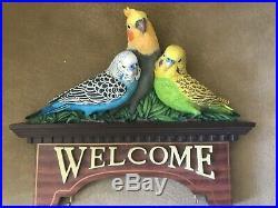 DANBURY MINT ALL SEASON+HOLIDAY WELCOME PLAQUE Indoor/Outdoor Cockatiel/Parakeet