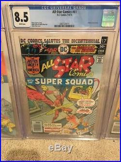 DC ALL STAR COMICS #58,61,70 CGC 9.4,8.5 1st App POWER GIRL, HUNTRESS LOT