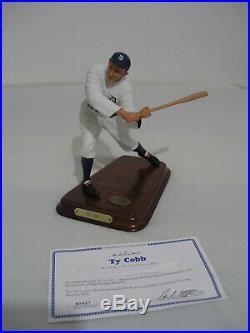 Danbury Mint Ty Cobb All Star Figurine with COA Detroit Tigers Baseball Figure