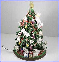 Danbury Mint Westie Christmas Tree Rare Decoration All Lights Working