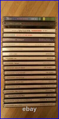 David Bowie all 19 studio albums up to Earthling private collection, mint
