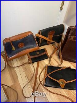 Dooney Bourke Vintage 9 Handbag & Wallet Lot All Weather Leather Collection
