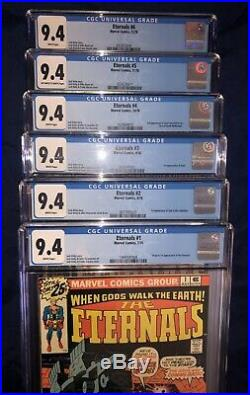 ETERNALS 1ST APPEARANCE CGC LOT (ALL 9.4s) ISSUES 1,2,3,4,5,6,7,8,9,10,11,12,13