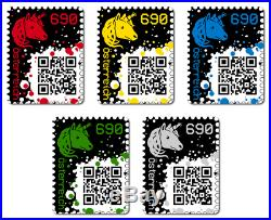 FIRST CRYPTO STAMP complete set of 5 & all color editions Ethereum MINT