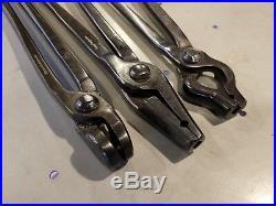 Forge tong all 3/8 v-bit bolt, straight v-bit, farrier blacksmith tool set lot
