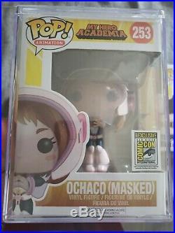 Funko POP All Might #248 Glow 2017 Funamation / Ochaco Masked #253 SDCC17 Lot