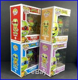 Funko POP! RARE Original Teenage Mutant Ninja Turtles Lot, All 4 Turtles TMNT