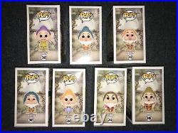 Funko Pop All Seven Dwarfs Lot Rare HTF Vaulted