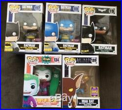 Funko Pop Batman Vinyl Figure Lot (5) #19,111,117,134,189, All Mib Man Bat, Joker