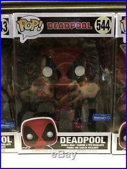 Funko Pop! Complete Lot of All 5 10 Inch DEADPOOL Walmart Exclusive Bobbleheads