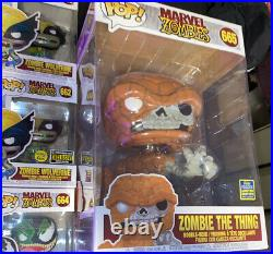 Funko Pop Marvel Zombie Set Lot All Exclusives Glow In The Dark Limited Ed. LE