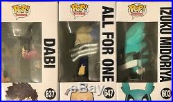 Funko Pop My Hero Academia Lot NYCC Dabi Fugitive All For One & Midoriya
