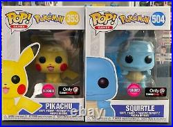 Funko Pop! Pokemon Lot of 10 All Flocked Limiteds / Exclusives / Con Stickers