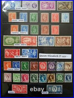 GB stamps collection 1841 to 1978 Mainly Unmounted Mint hagner page all pictured