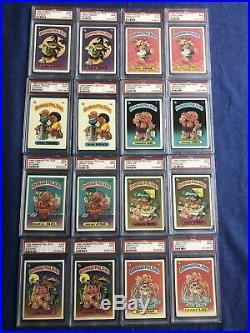GPK Garbage Pail Kids 1985 Topps Series 1 Matte Variation Set All PSA 9 Mint