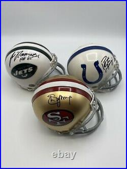 GREATEST QBs OF ALL TIME 11 Autographed Signed Mini Helmet Lot Collection PSA
