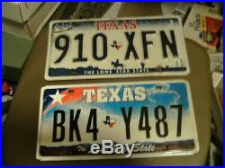 HUGE USED/EXPIRED Texas License PLATE LOT (100) Total - ALL TEXAS PLATES