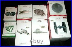 Hallmark Ornaments Star Wars Storytellers Lot Of All 7power Cordboxes Good Tag